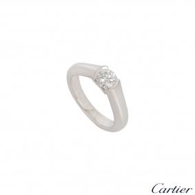 C de Cartier Platinum Diamond Ring 0.54ct G/VS1